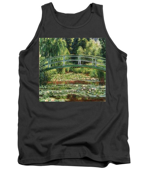 The Japanese Footbridge And The Water Lily Pool Giverny Tank Top by Claude Monet