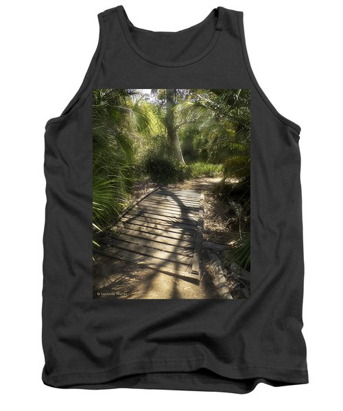 Tank Top featuring the photograph The Journey Along The Path Comes With Light And Shadows by Lucinda Walter