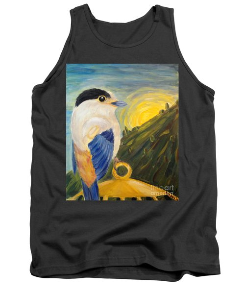 Tank Top featuring the painting The Key by Maria Langgle