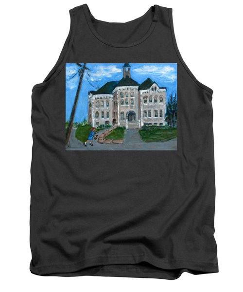 The Last Bell At West Hill School Tank Top by Betty Pieper