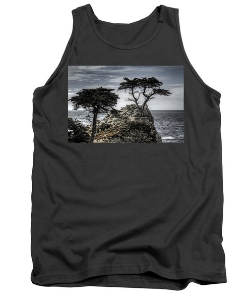 The Lone Cypress Tank Top by Eduard Moldoveanu