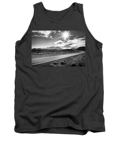 Tank Top featuring the photograph The Lonely Road by Howard Salmon