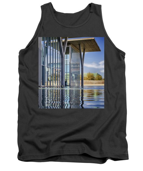 Tank Top featuring the photograph The Modern by Joan Carroll