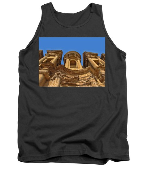 Tank Top featuring the photograph The Monastery In Petra by David Gleeson