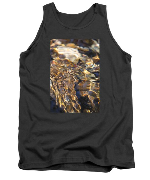 Tank Top featuring the photograph The Music And Motion Of Water by Amy Gallagher