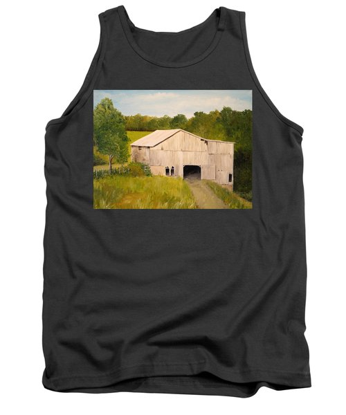 Tank Top featuring the painting The Old Barn by Alan Lakin