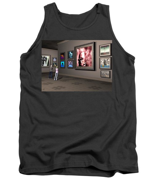 Tank Top featuring the digital art The Old Museum by John Alexander