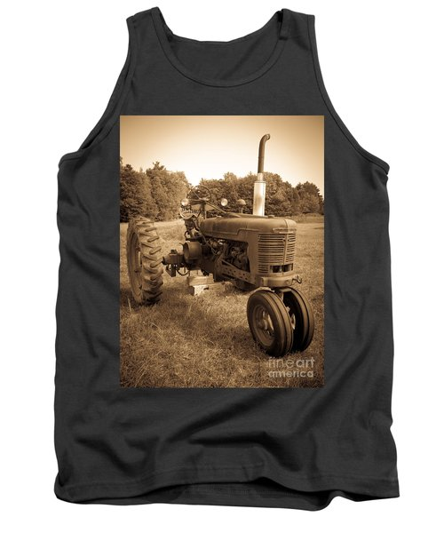 The Old Tractor Sepia Tank Top