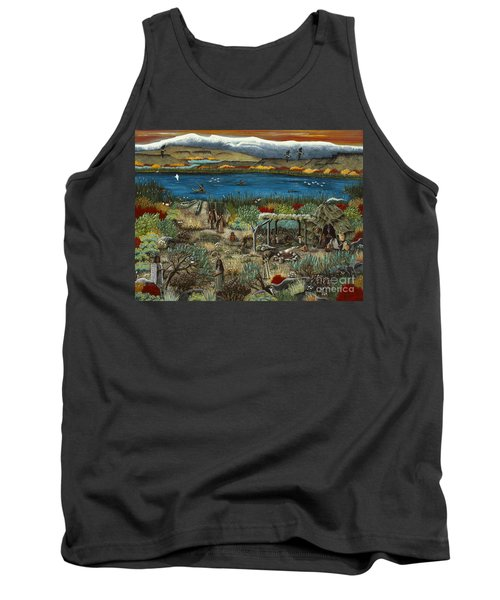 Tank Top featuring the painting The Oregon Paiute by Jennifer Lake