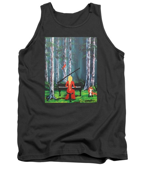The Pianist In The Woods Tank Top by Patricia Olson