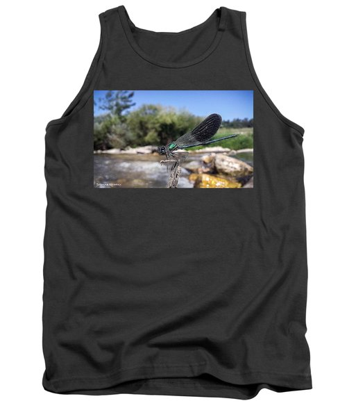 Tank Top featuring the photograph The River Dragonfly by Stwayne Keubrick