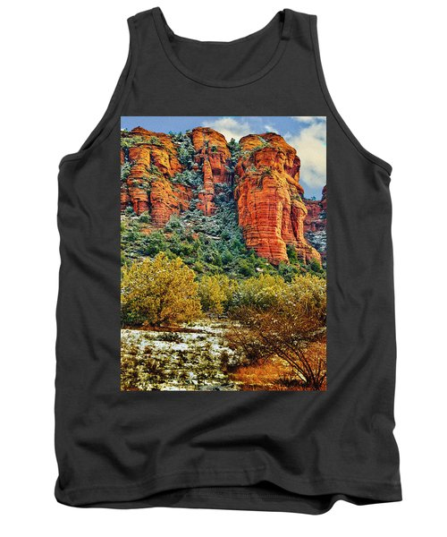 Tank Top featuring the photograph The Secret Mountain Wilderness In Sedona Back Country by Bob and Nadine Johnston