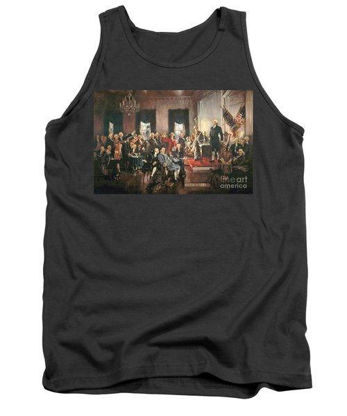 The Signing Of The Constitution Of The United States In 1787 Tank Top