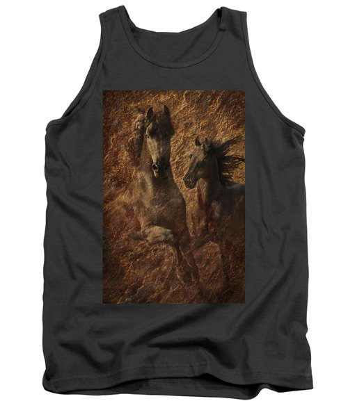 The Spirit Of Black Sterling Tank Top by Melinda Hughes-Berland