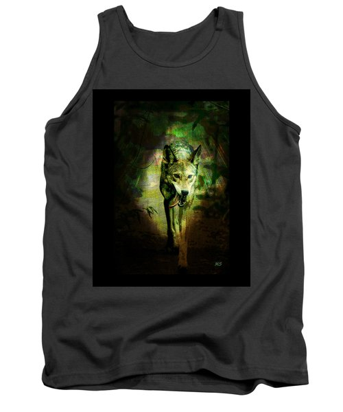 The Spirit Of The Wolf Tank Top by Absinthe Art By Michelle LeAnn Scott