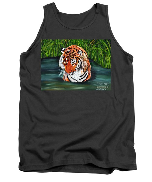 Tank Top featuring the painting The Stare by Laura Forde