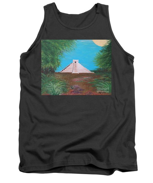 Tank Top featuring the painting The Temple Of Kukulcan by Alys Caviness-Gober