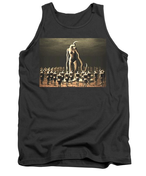 Tank Top featuring the digital art The Vile Goddess by John Alexander