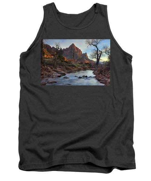 The Watchman In Winter-2 Tank Top by Alan Vance Ley