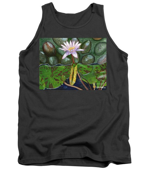 Tank Top featuring the painting The Waterlily by Laura Forde