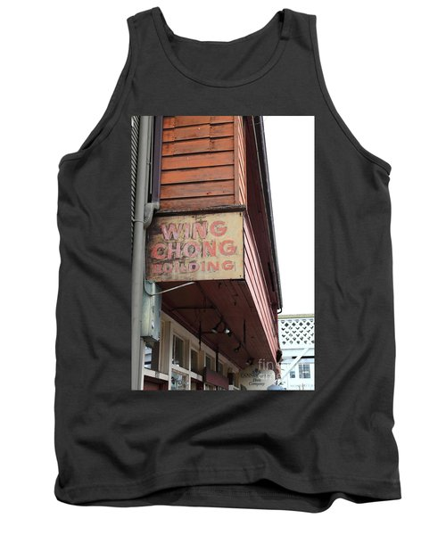 The Wing Chong Building On Monterey Cannery Row California 5d24786 Tank Top
