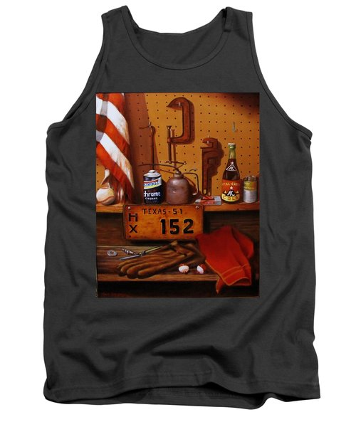 Tank Top featuring the painting The Workshop by Gene Gregory