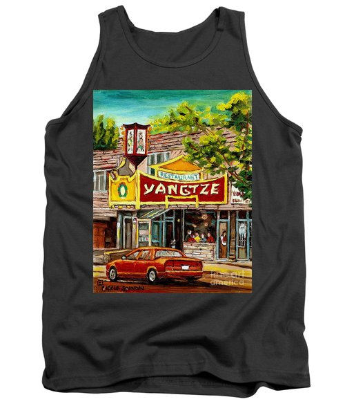 The Yangtze Restaurant On Van Horne Avenue Montreal  Tank Top