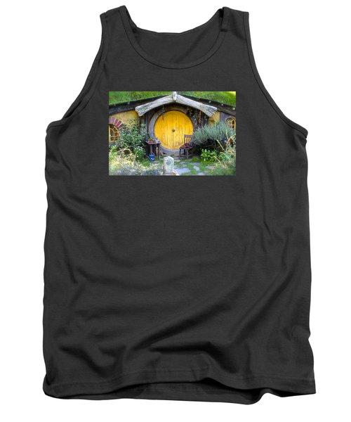 The Yellow Hobbit Door Tank Top by Venetia Featherstone-Witty