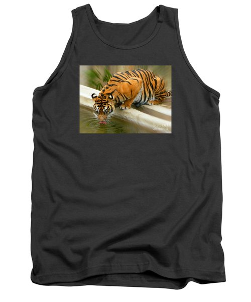 Thirsty Sumatran Tiger Tank Top by Emmy Marie Vickers
