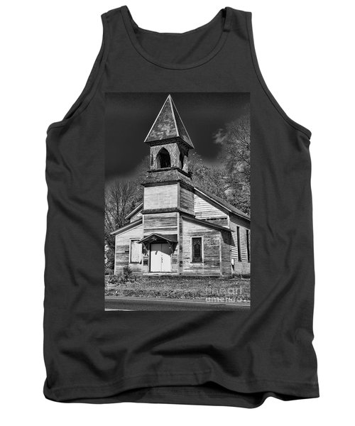 This Old Church In Black And White Tank Top
