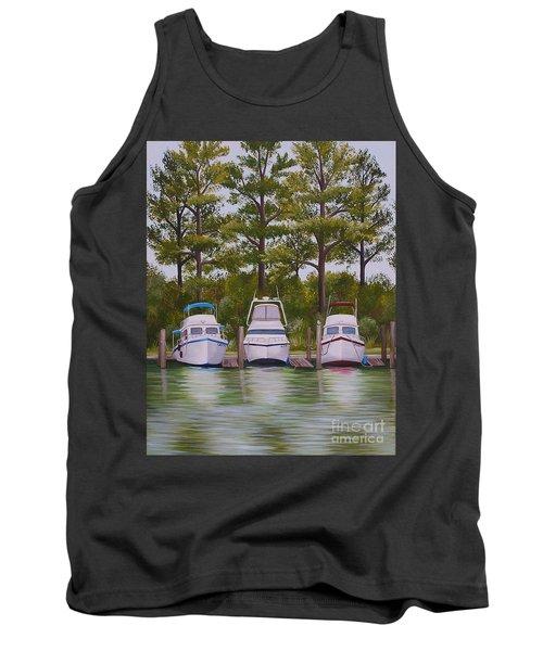 Three Boats Tank Top