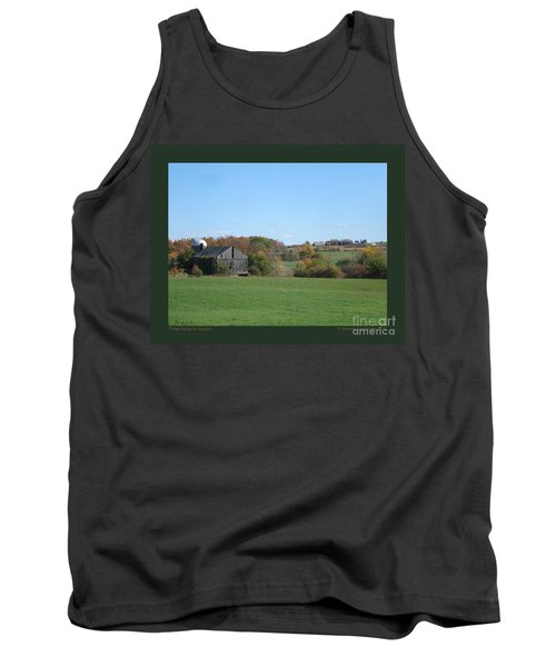 Tank Top featuring the photograph Three Farms In Autumn by Patricia Overmoyer