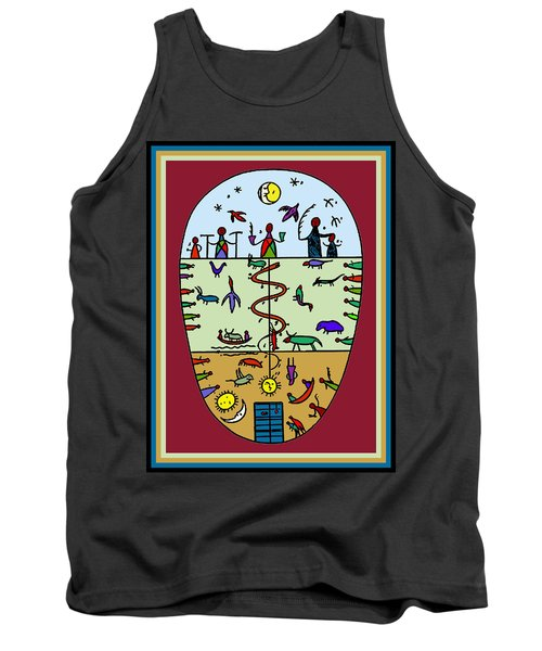 Tank Top featuring the digital art Three Layers Of Life by Vagabond Folk Art - Virginia Vivier