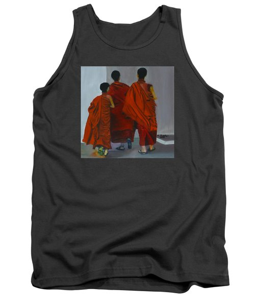 Three Young Monks Tank Top