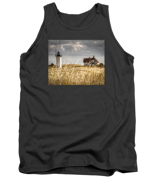 Race Point Light Through The Grass Tank Top by Brian Caldwell