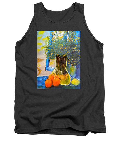 Tank Top featuring the painting Through The Window by Pamela  Meredith