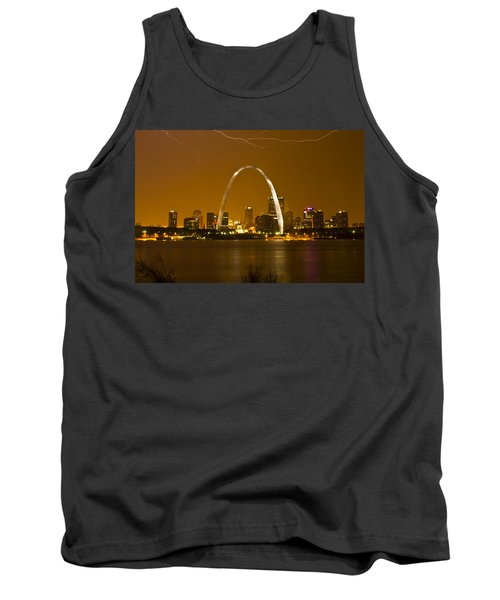 Thunderstorm Over The City Tank Top by Garry McMichael