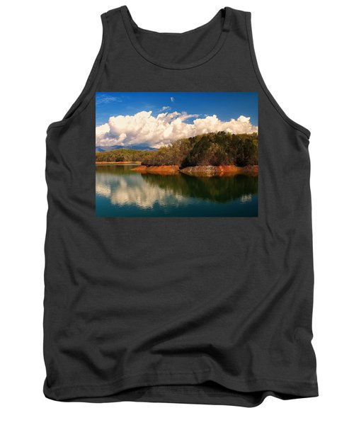 Thunderstorm Rolling Over The Smokies Tank Top by Chris Flees
