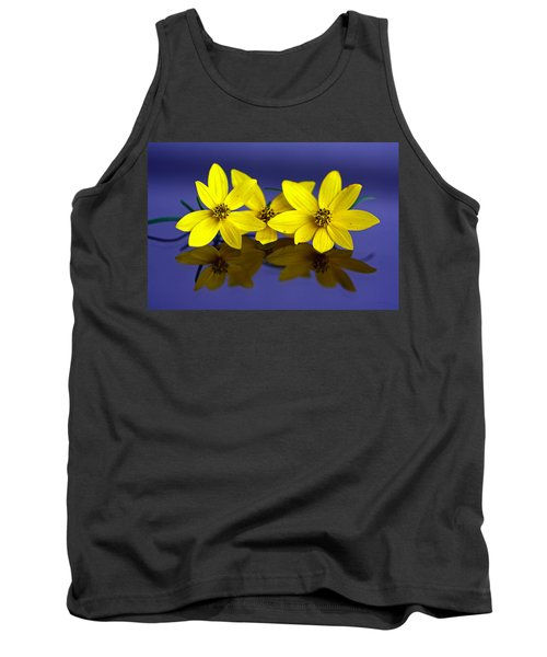 Tank Top featuring the photograph Tickseed Trio by Suzanne Stout