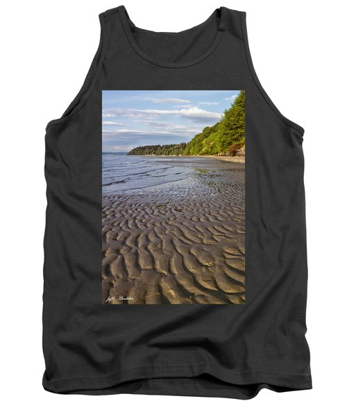 Tank Top featuring the photograph Tidal Pattern In The Sand by Jeff Goulden