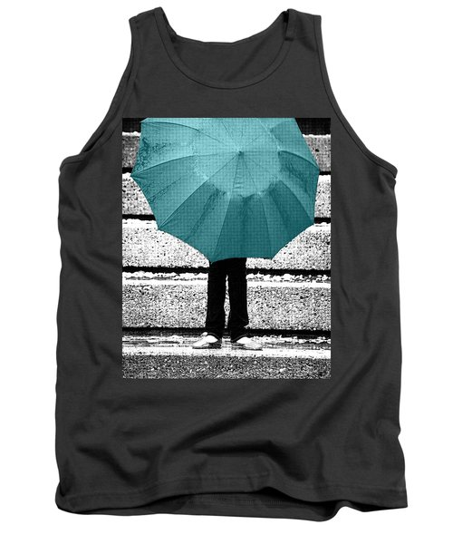 Tiffany Blue Umbrella Tank Top