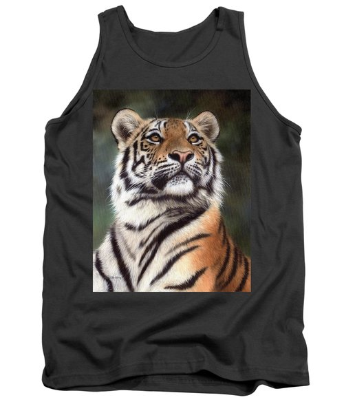 Tiger Painting Tank Top by Rachel Stribbling