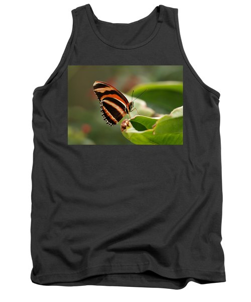 Tiger Striped Butterfly Tank Top