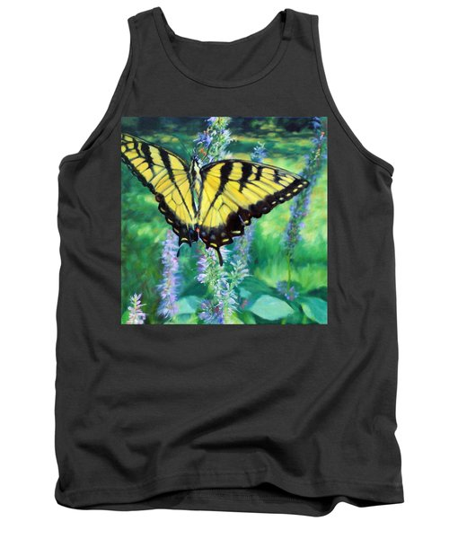 Tiger Swallowtail- Enjoying The Sweetness Tank Top by Bonnie Mason