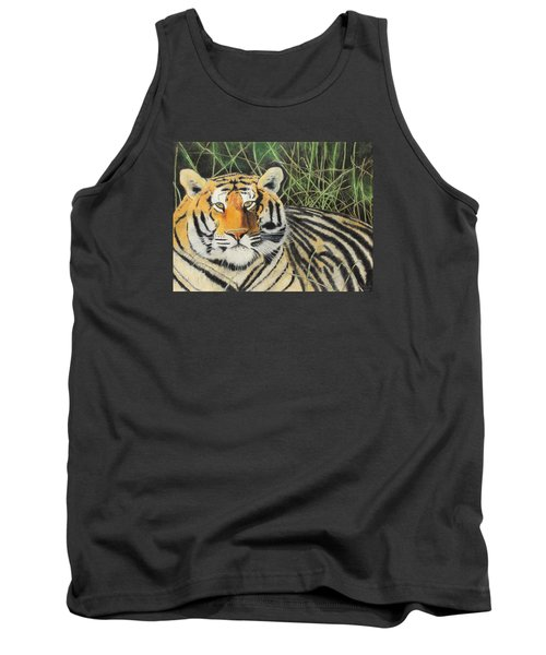 Tank Top featuring the painting Tigress by Jeanne Fischer