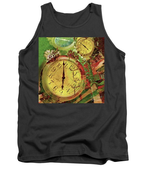 Time 6 Tank Top by Claudia Ellis
