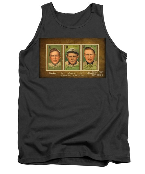 Tinker To Evers To Chance Tank Top by Lianne Schneider