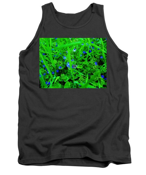 Tank Top featuring the photograph Tiny Butterfly by Sherman Perry