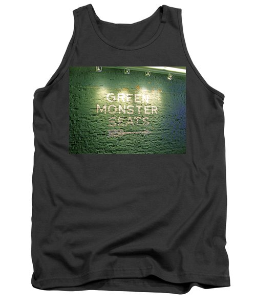 Tank Top featuring the photograph To The Green Monster Seats by Barbara McDevitt