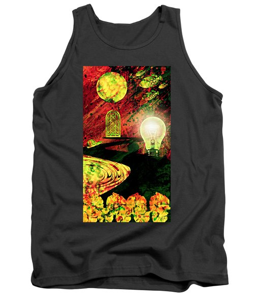 Tank Top featuring the mixed media To The Light by Ally  White